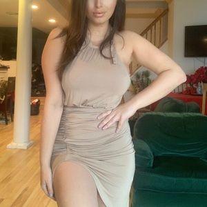 Fashionova taupe slinky dress